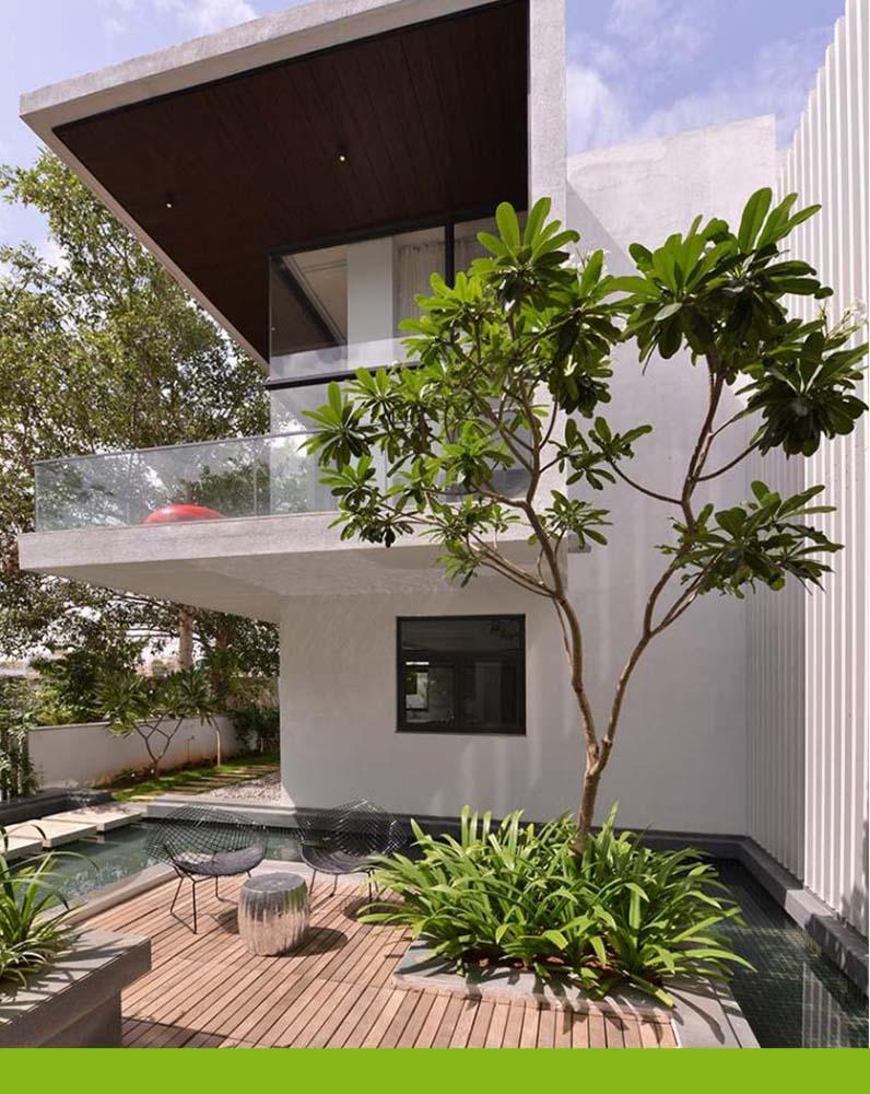 sân vườn biệt thự, thiết kế nhà xinh