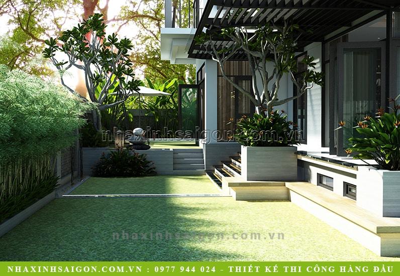 thiết kế sân vườn đẹp, biệt thự đẹp