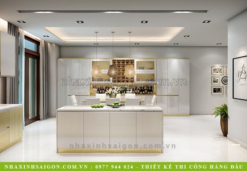 thiết kế nhà bếp sang trọng