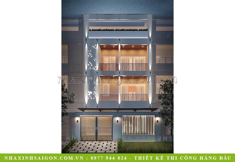 nhà phố 2 tầng mặt tiền, mẫu nhà xinh