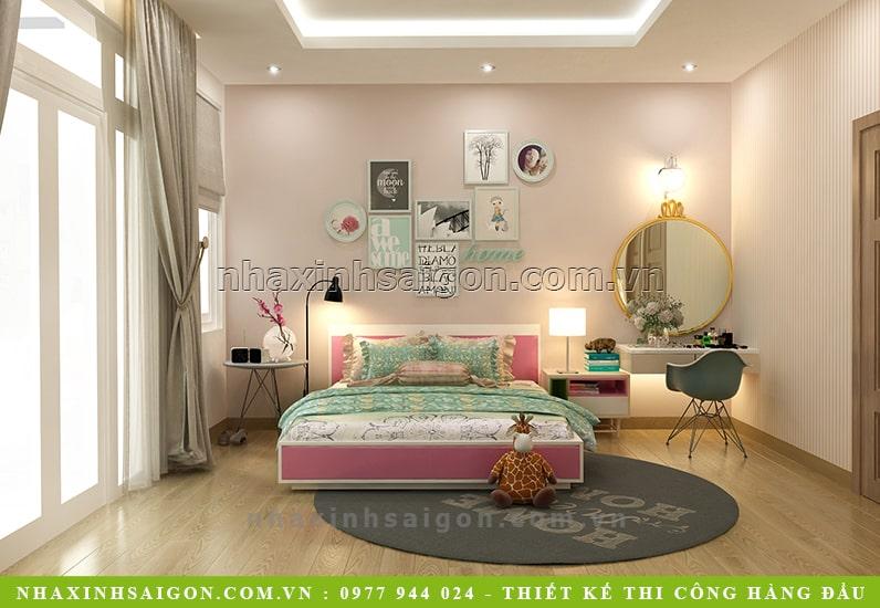 thiết kế phòng ngủ con gái đẹp, nhà xinh