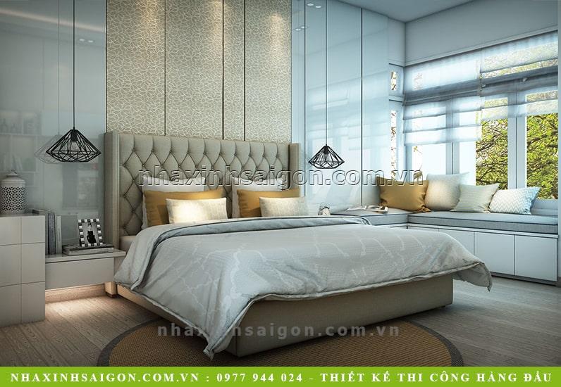 thiết kế phòng ngủ master hiện đại, nhà xinh