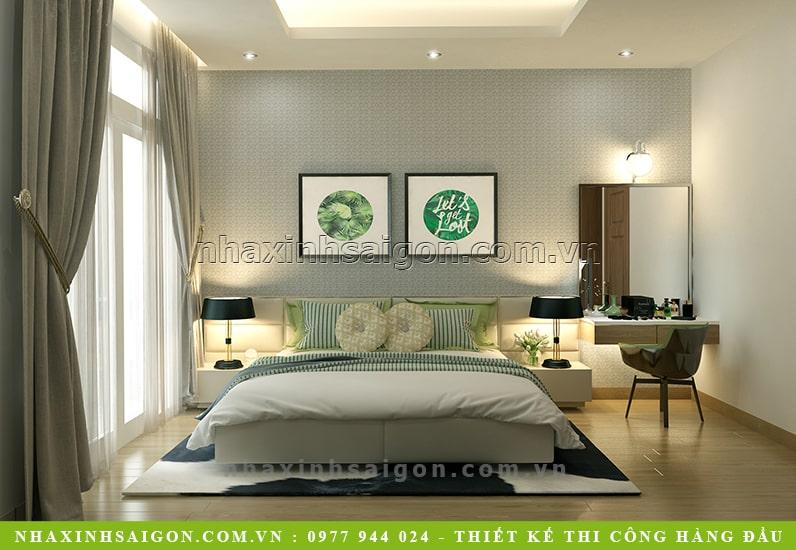 thiết kế phòng ngủ master hiện đại, nội thất nhà xinh