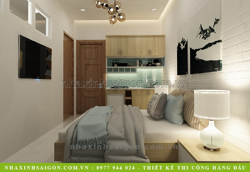 thiết kế phòng ngủ cho thuê đẹp, mẫu nội thất