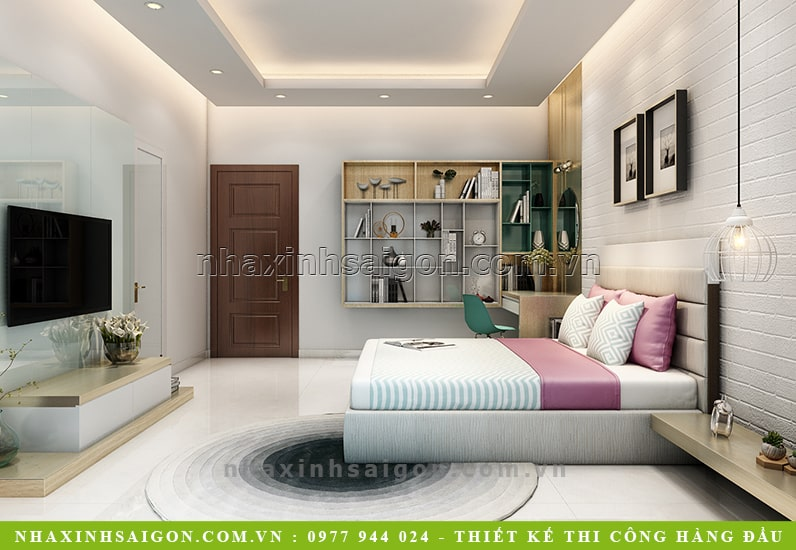 thiết kế phòng ngủ con gái nhỏ