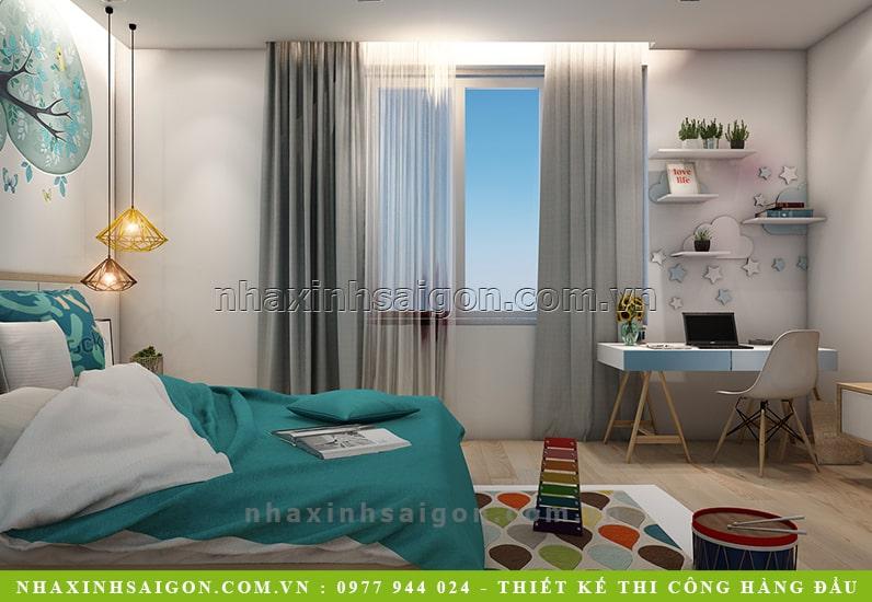 thiết kế phòng ngủ con trai, nội thất đẹp