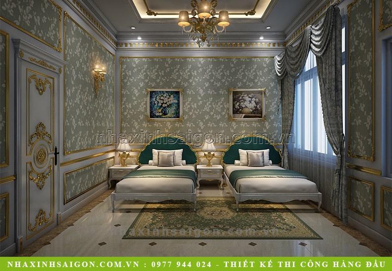 thiết kế phòng ngủ đôi cổ điển, nhà đẹp