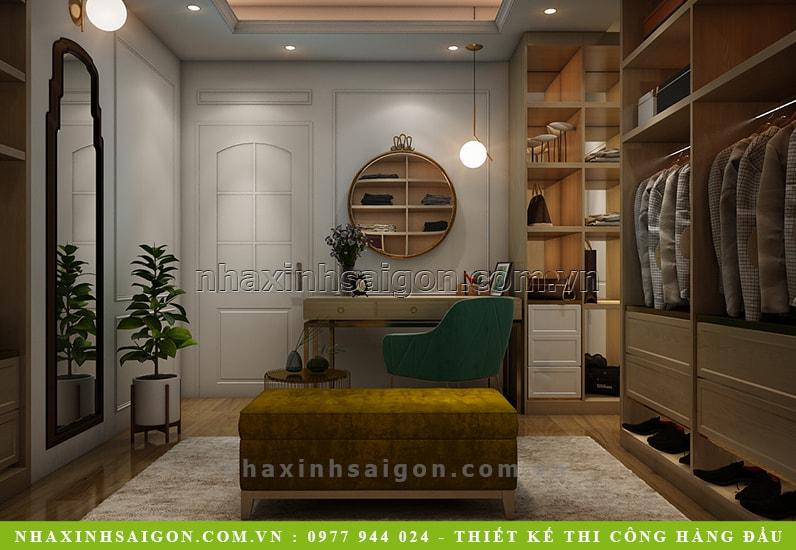 thiết kế phòng thay đồ hiện đại, nội thất