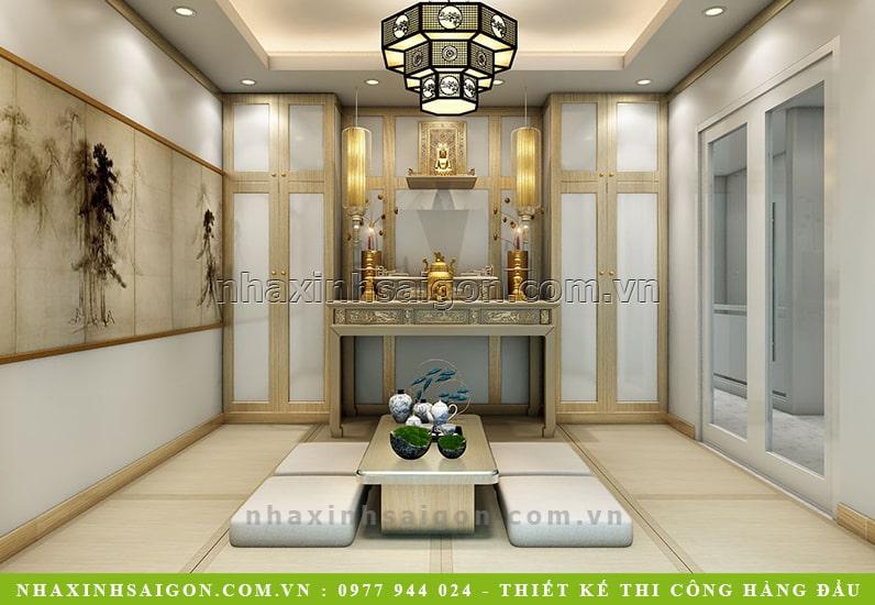thiết kế phòng thờ hiện đại