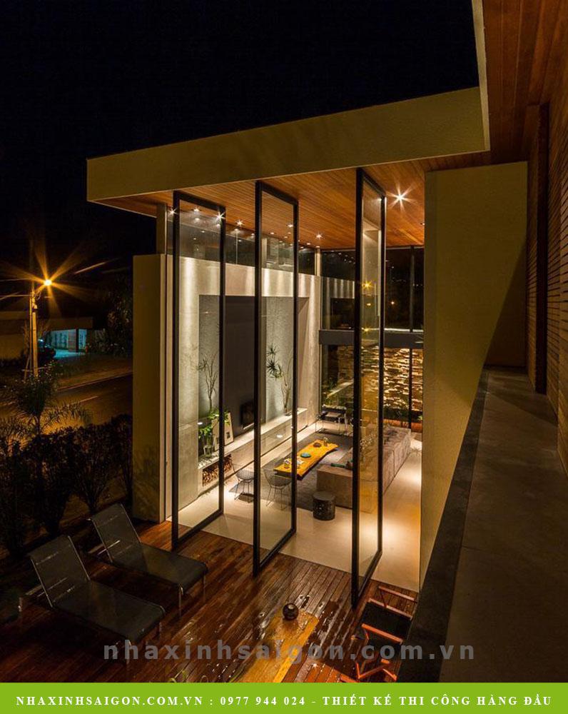 thiết kế cửa kính biệt thự, công ty nhà xinh