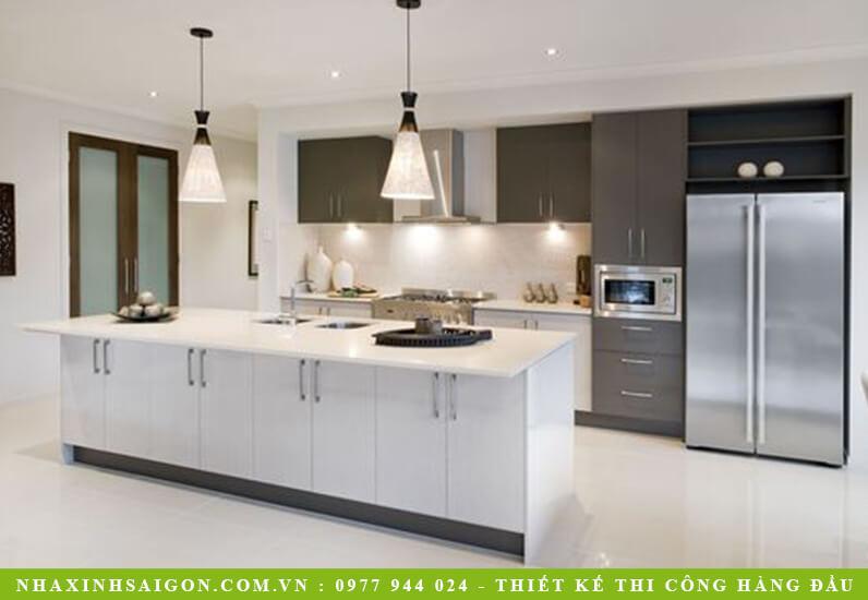 thiết kế nhà bếp hiện đại, nội thất nhà xinh