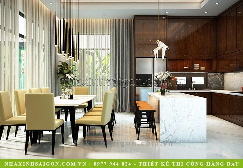 phòng ăn hiện đại đẹp, thiết kế biệt thự hiện đại
