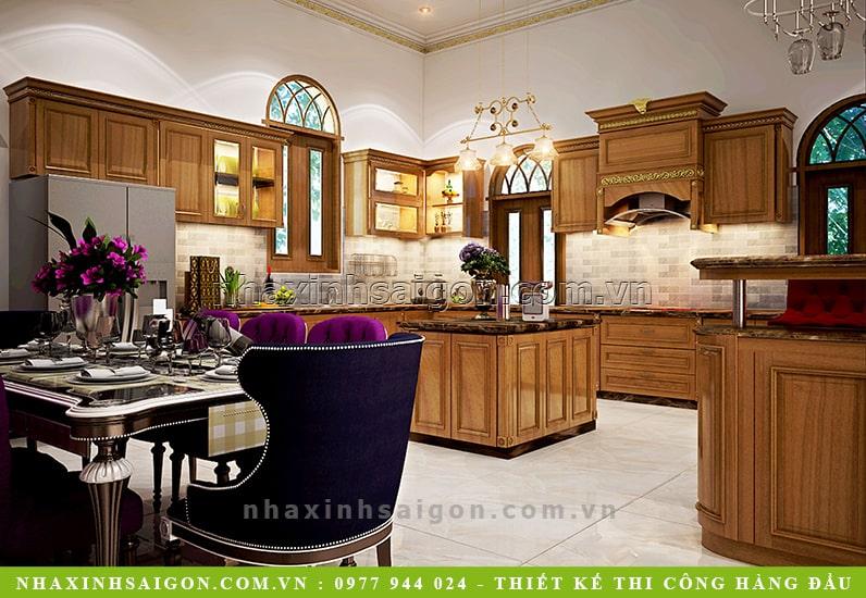 thiết kế nội thất phòng bếp ăn, mẫu nội thất