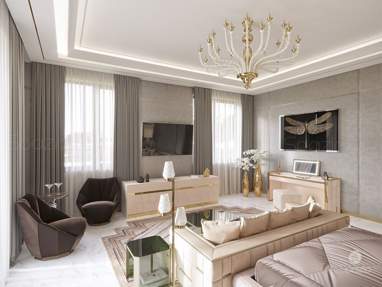 beautiful master bedroom design uae