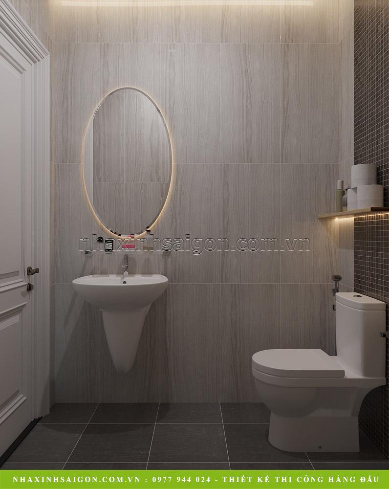 Thiết kế nội thất phòng vệ sinh chung tầng 1